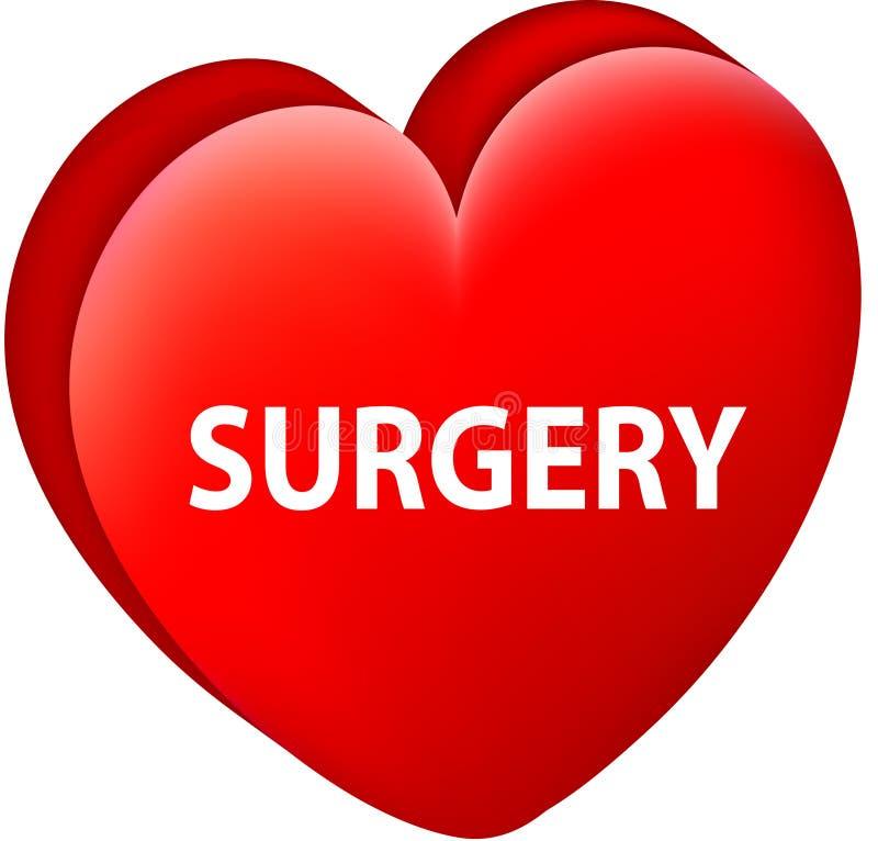 Botão redondo da Web da marca da seta da cirurgia da forma do coração ilustração royalty free