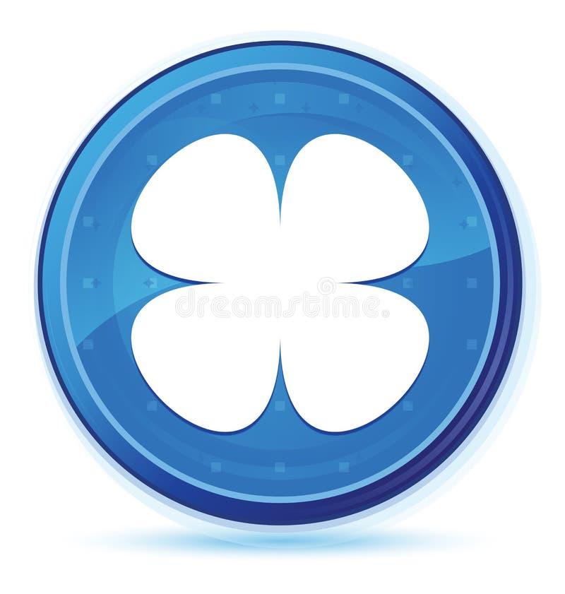 Botão redondo principal azul da meia-noite do ícone da folha da flor ilustração do vetor