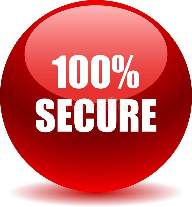 botão seguro da Web 100 ilustração stock