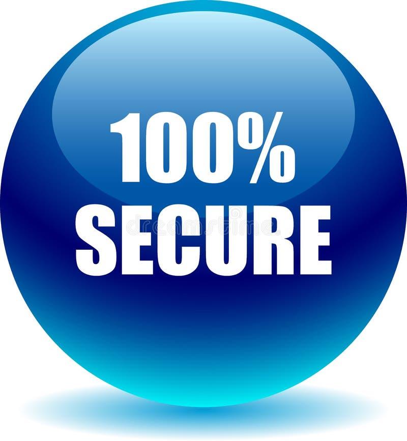 botão seguro da Web 100 ilustração do vetor