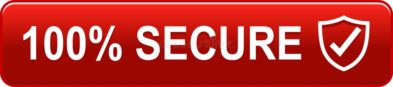 botão seguro da Web 100 ilustração royalty free