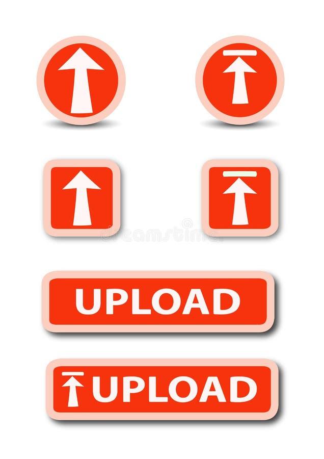 Estoque do botão da Web da transferência de arquivo pela rede imagem de stock royalty free