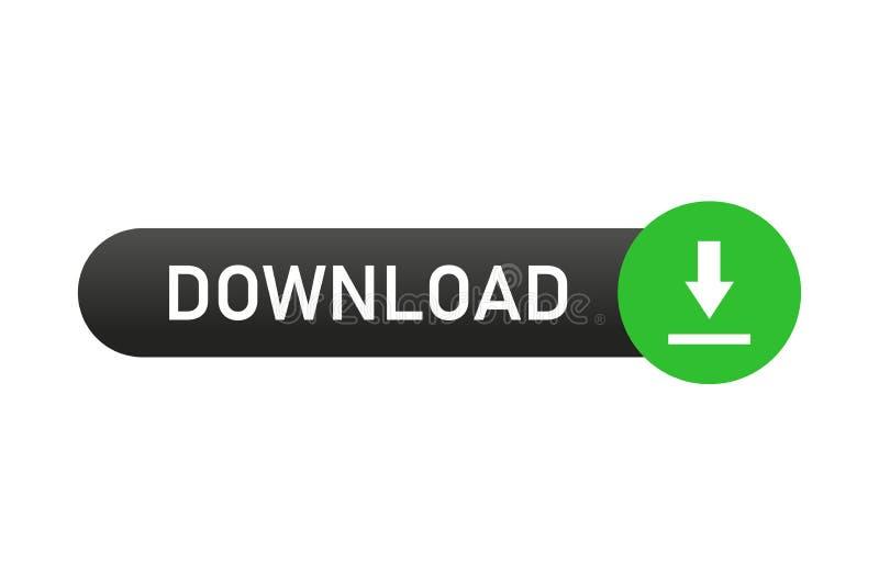 Botão Transferir elemento Web isolado para aplicação ou Web sites Botão para comprar ou baixar ilustração royalty free