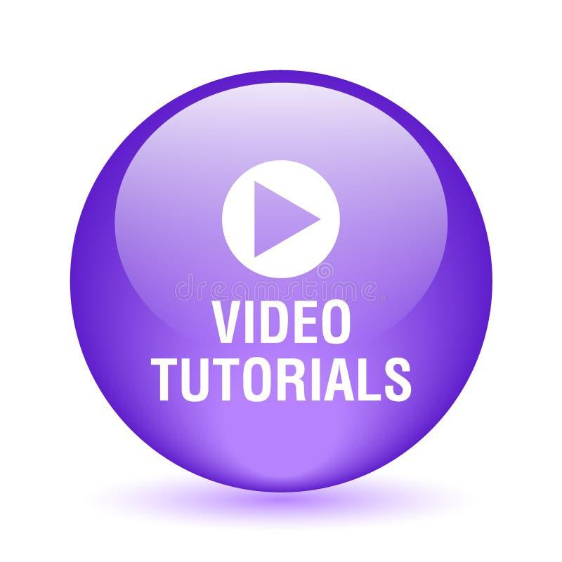botão tutorial video ilustração stock
