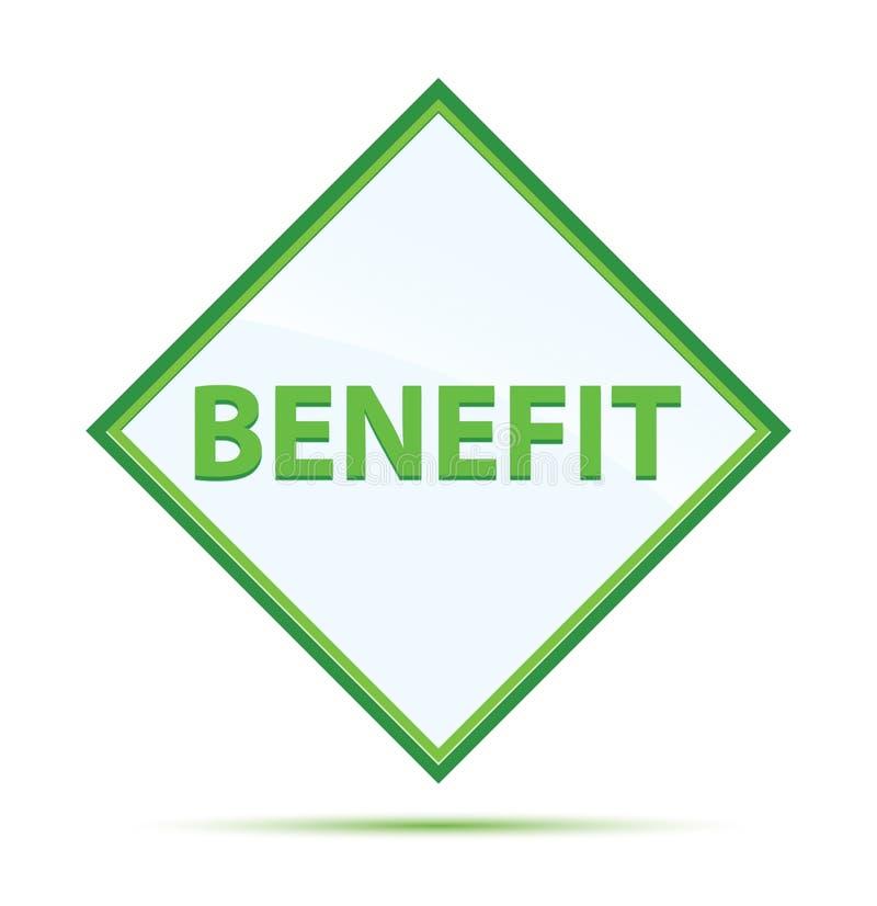 Botão verde abstrato moderno do diamante do benefício ilustração stock