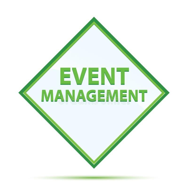 Botão verde abstrato moderno do diamante da gestão do evento ilustração do vetor