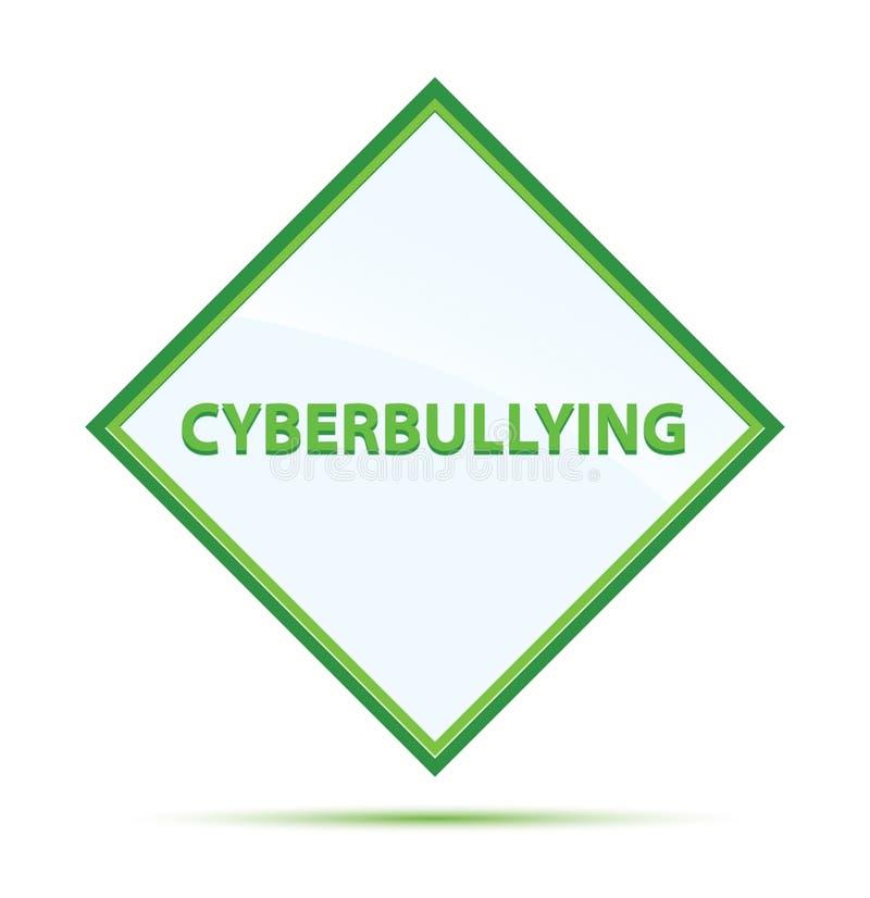 Botão verde abstrato moderno do diamante de Cyberbullying ilustração royalty free