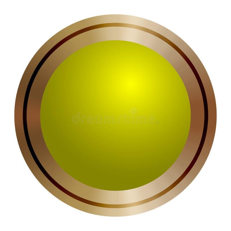 Botão verde redondo do vetor Engrena o ícone ilustração royalty free