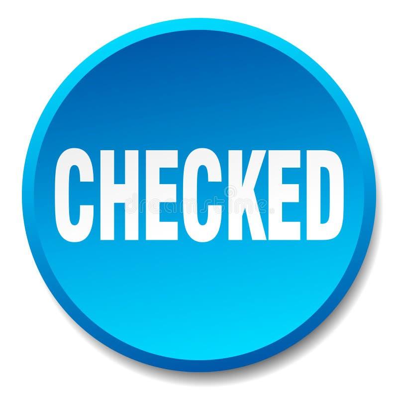 botão verificado ilustração royalty free
