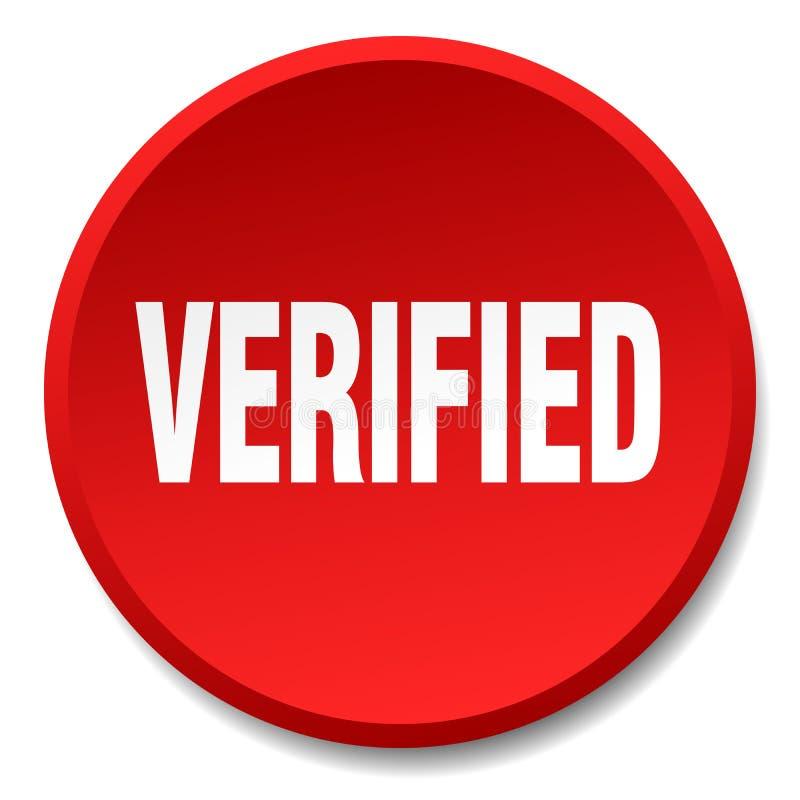 botão verificado ilustração do vetor