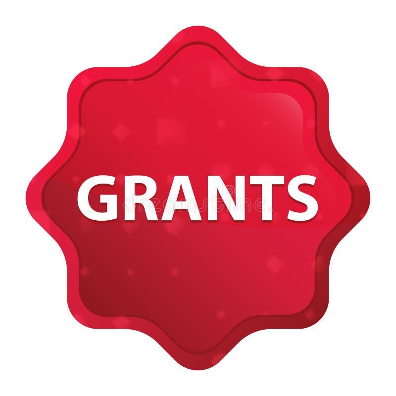 Botão vermelho cor-de-rosa enevoado da etiqueta do starburst das concessões ilustração royalty free