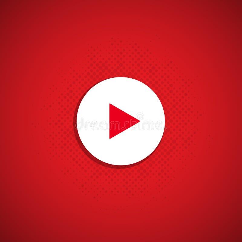 Botão vermelho do jogo ilustração stock