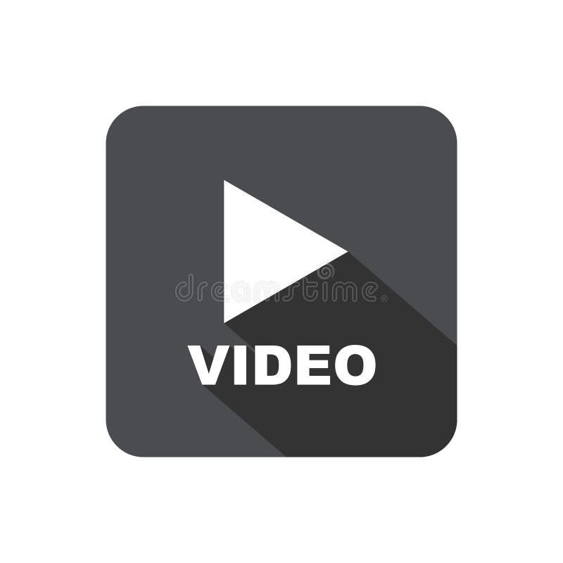 Botão video do jogo com sombra ilustração stock