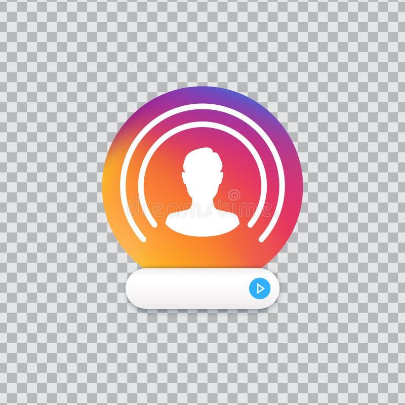 Botão vivo Ícone do usuário de Web no fundo transparente Rede social viva, logotipo ilustração royalty free
