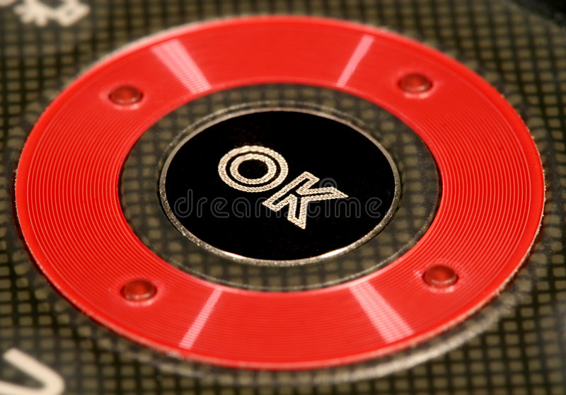 Botón ACEPTABLE fotografía de archivo