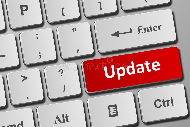 Botón Actualizar en el teclado stock de ilustración