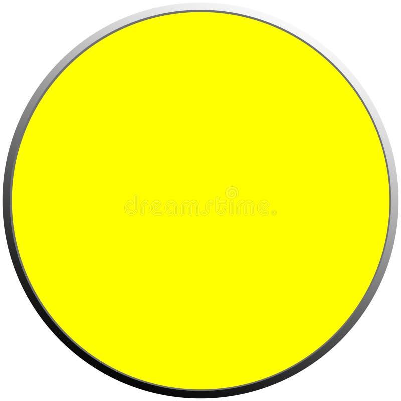 Botón amarillo fotografía de archivo