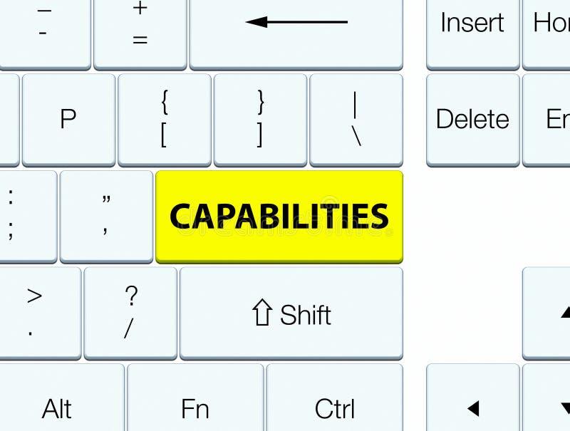 Botón amarillo del teclado de las capacidades libre illustration