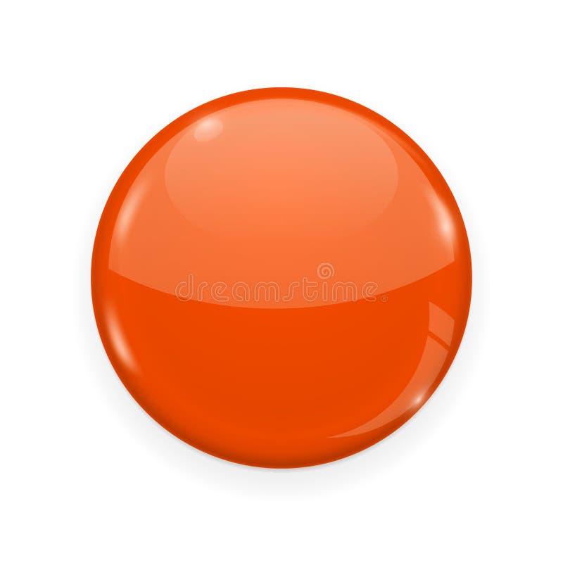Botón anaranjado del web aislado en el fondo blanco Icono redondo 3d libre illustration