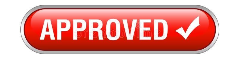 Botón aprobado del web ilustración del vector