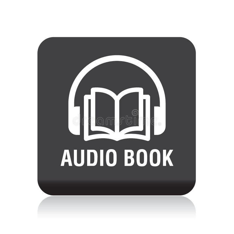 Botón audio del libro stock de ilustración