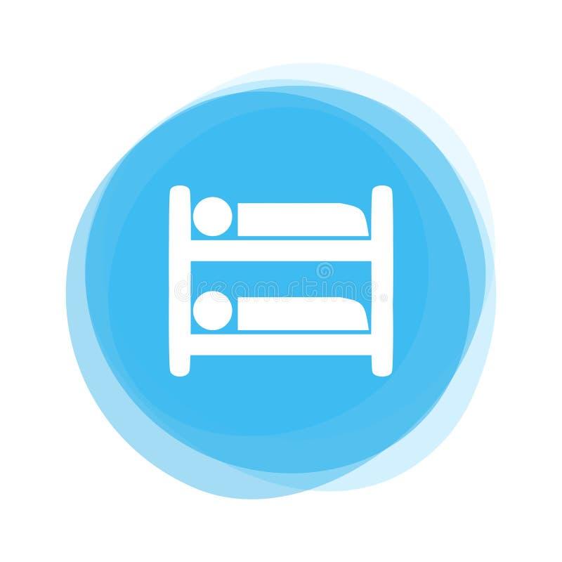 Botón azul claro: Alto durmiente libre illustration