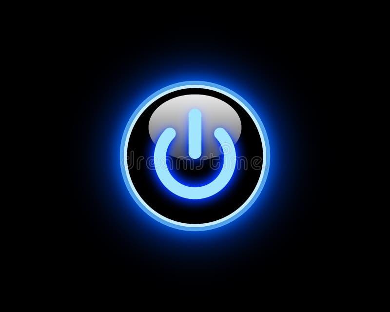 Botón azul de la potencia libre illustration