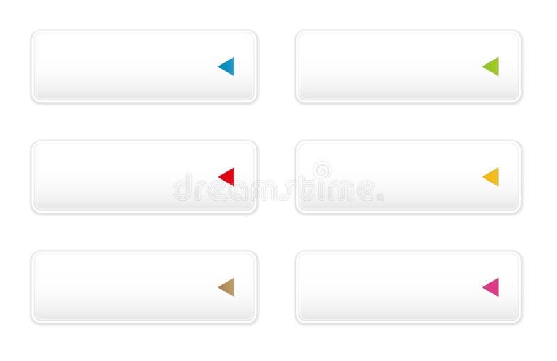Botón blanco con el sistema del icono de la flecha libre illustration