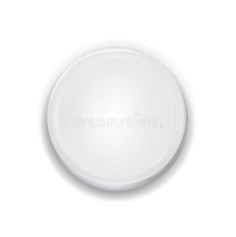 Download Botón Blanco De La Interfaz De Usuario Aislado Ilustración del Vector - Ilustración de icono, modelo: 42439323