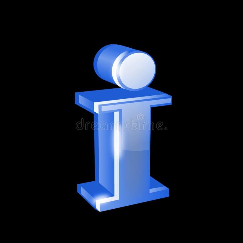Botón brillante del Web de la información stock de ilustración