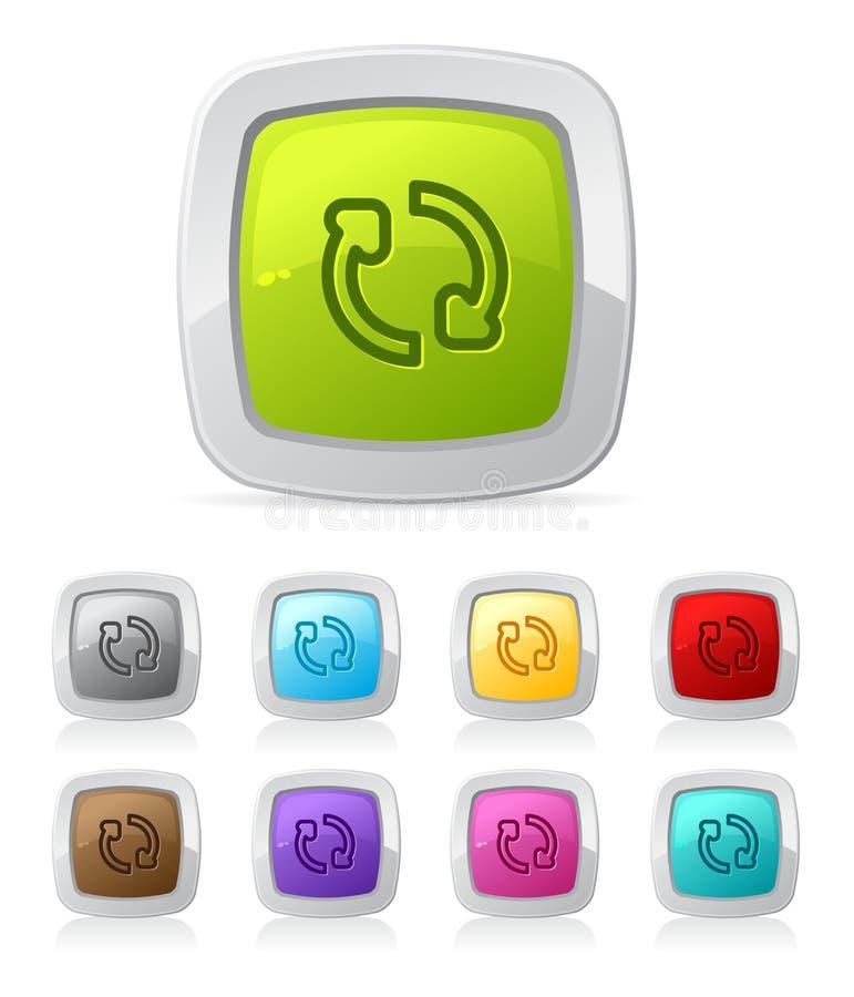 Botón brillante - restaure stock de ilustración