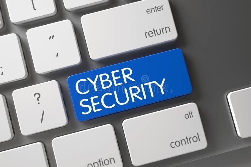Botón cibernético de la seguridad 3d libre illustration