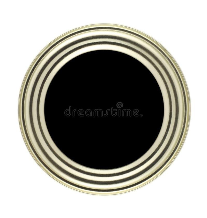 Botón Circular Con El Marco Del Metal Foto de archivo - Imagen de ...
