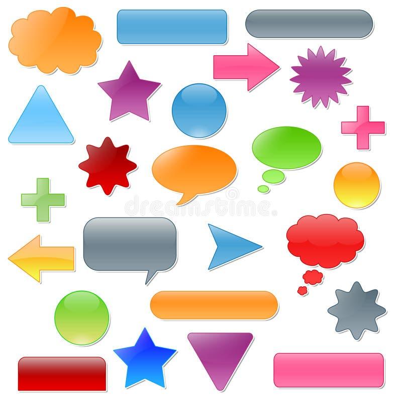 Botón coloreado libre illustration