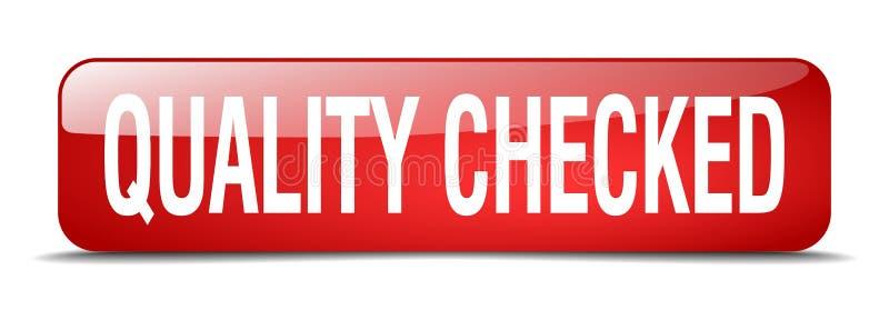 botón comprobado calidad stock de ilustración