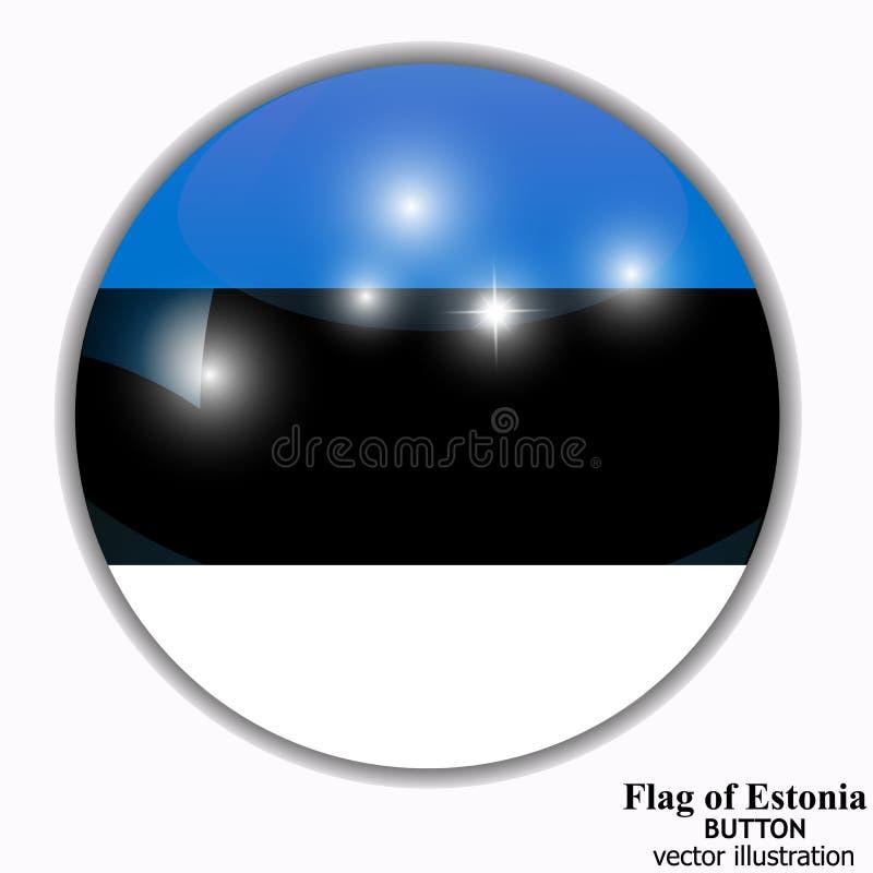 Bot?n con la bandera de Estonia Vector ilustración del vector