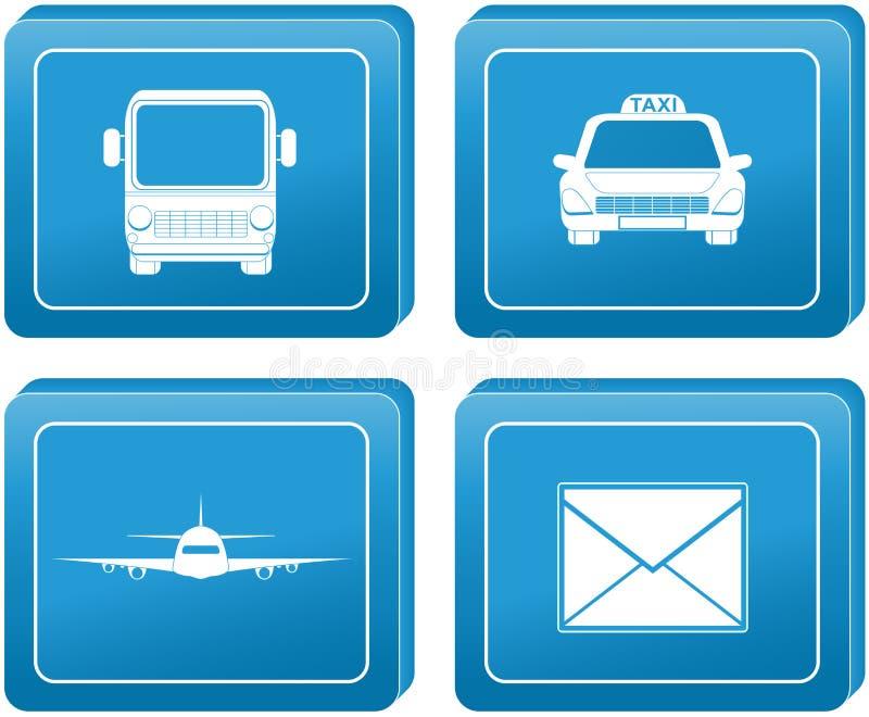 Botón con la muestra del envío del transporte ilustración del vector