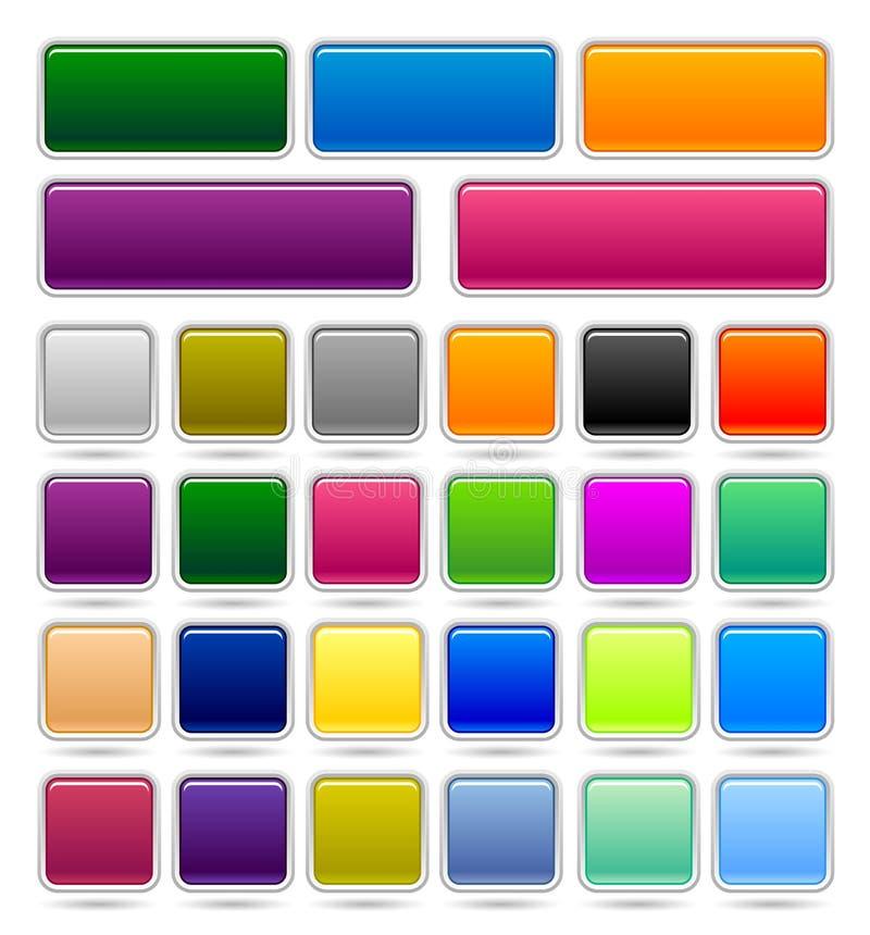 Botón cuadrado stock de ilustración