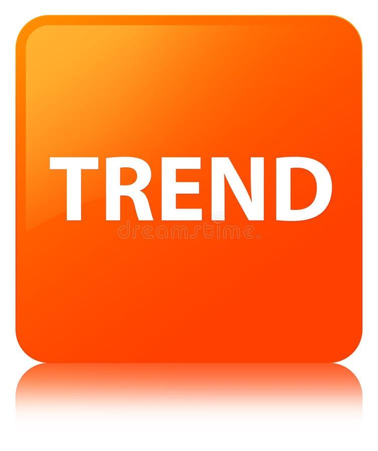 Botón cuadrado anaranjado de la tendencia stock de ilustración