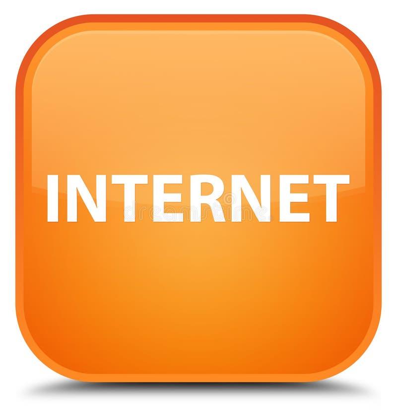 Botón cuadrado anaranjado especial de Internet stock de ilustración
