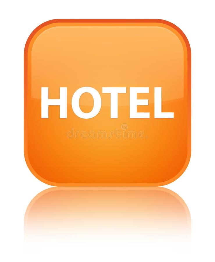 Botón cuadrado anaranjado especial del hotel stock de ilustración