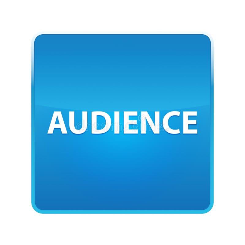 Botón cuadrado azul brillante de la audiencia libre illustration