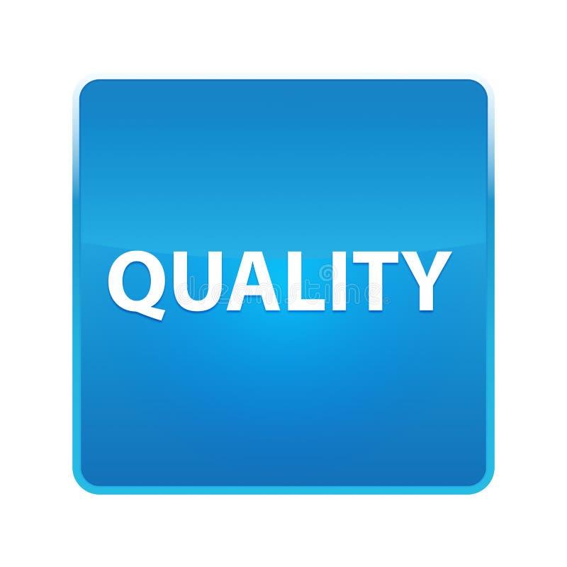 Botón cuadrado azul brillante de la calidad ilustración del vector