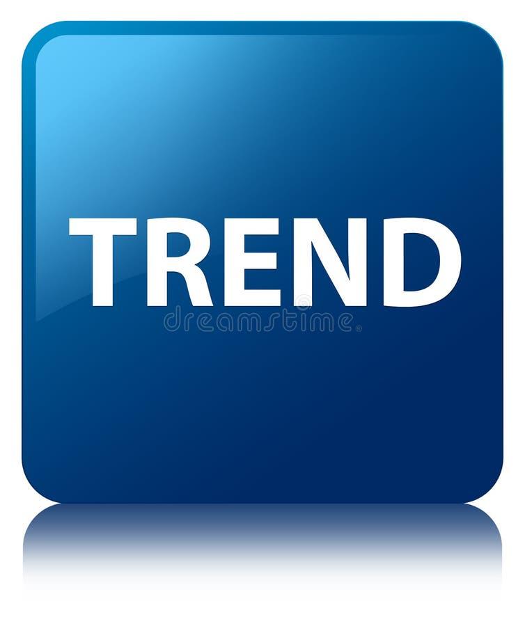 Botón cuadrado azul de la tendencia stock de ilustración