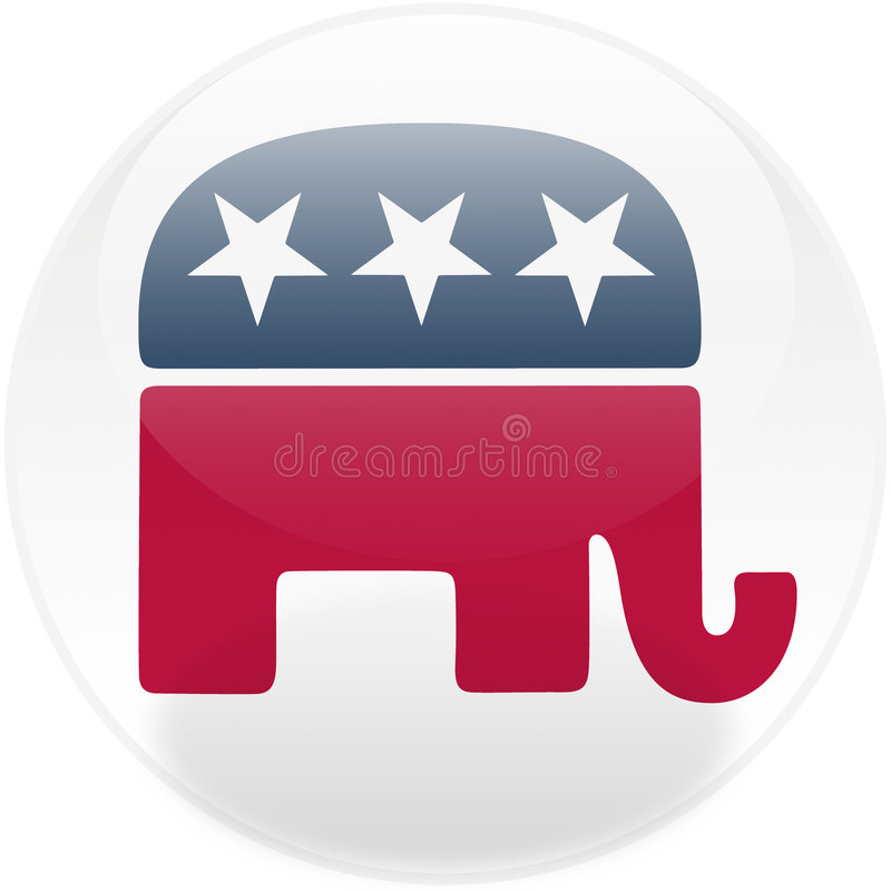 Botón cuadrado republicano ilustración del vector