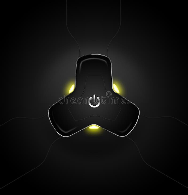 Botón de alta tecnología de la potencia libre illustration