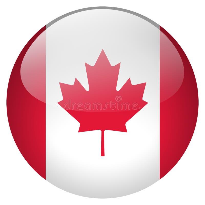 Botón de Canadá ilustración del vector
