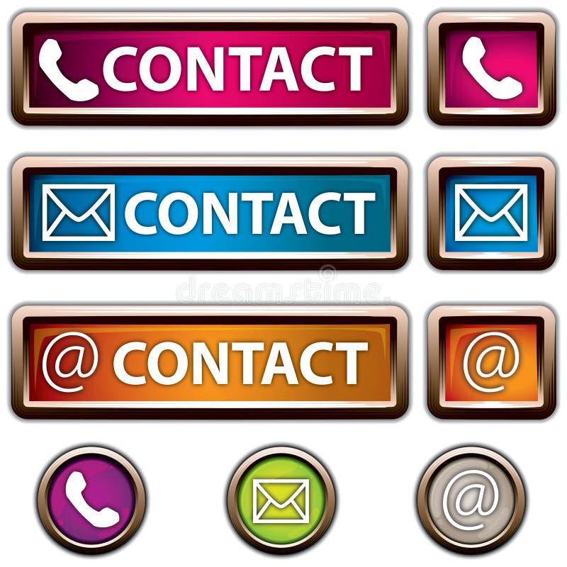 Botón de contacto stock de ilustración
