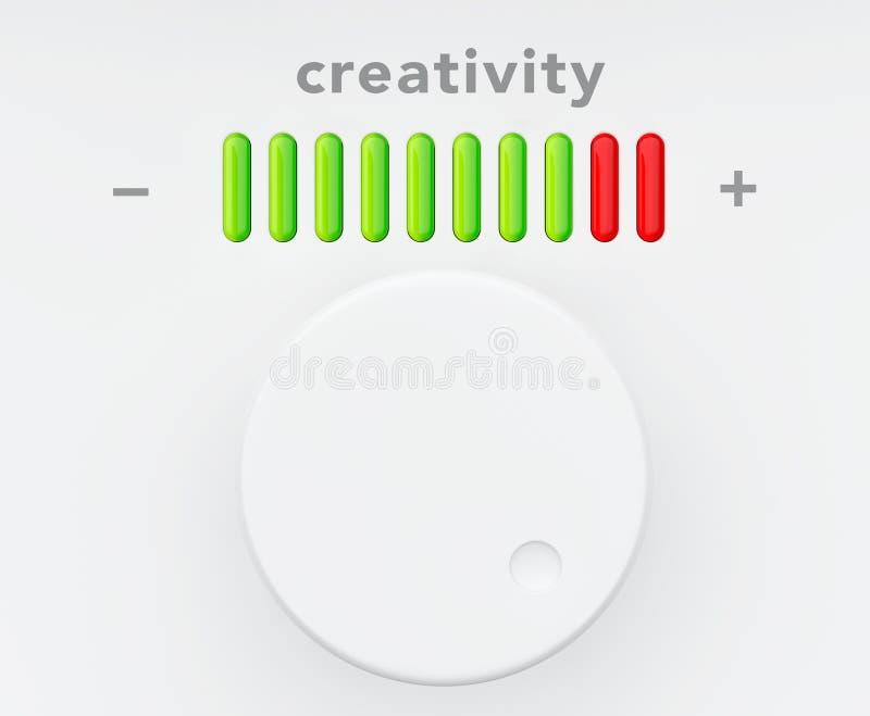 Botón de control con la escala del progreso de la creatividad libre illustration