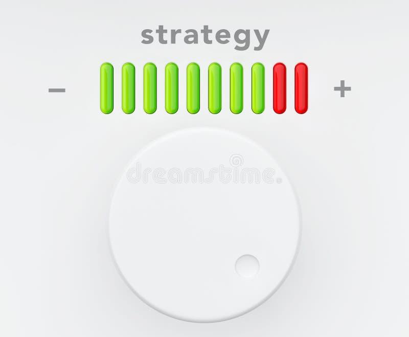 Botón de control con la escala del progreso de la estrategia libre illustration